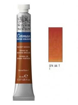 Watercolour paints Cotman burnt sienna