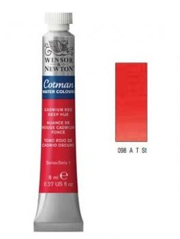 Watercolour paints Cotman cadmium red deep hue
