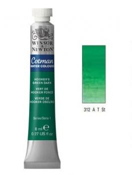 Watercolour paints Cotman hookers green dark