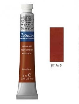 Watercolour paints Cotman indian red
