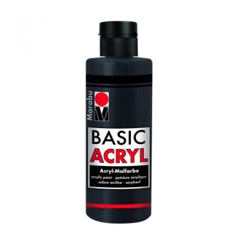Acrylic paint Basic Acryl Marabu 073 black