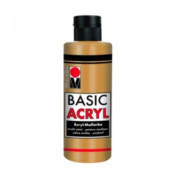 Acrylic paint Basic Acryl Marabu 784 gold