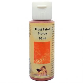 Acrylic paint with frost effect 30 ml. bronze