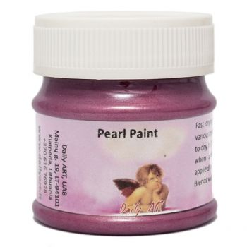 Acrylic pearl paint bordeaux