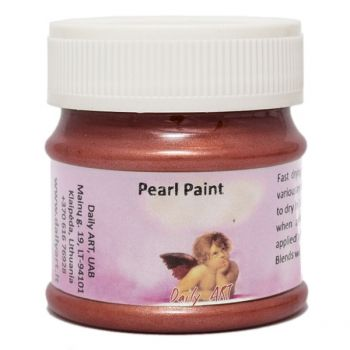 Acrylic pearl paint red
