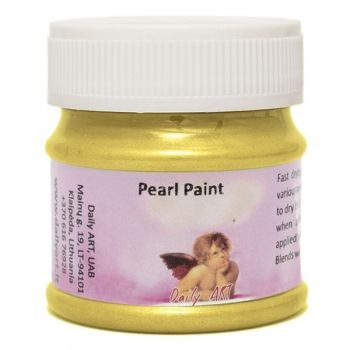 Acrylic pearl paint yellow