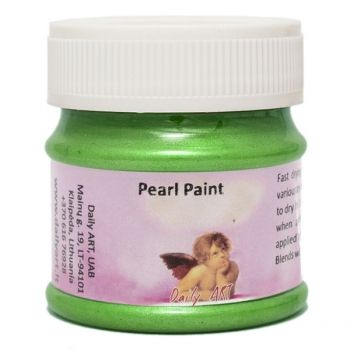 Acrylic pearl paint green