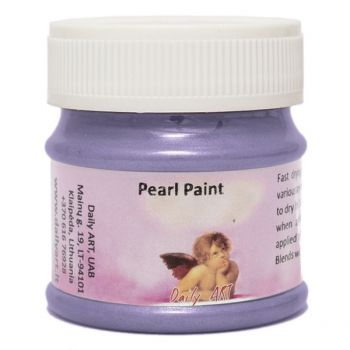 Acrylic pearl paint violet