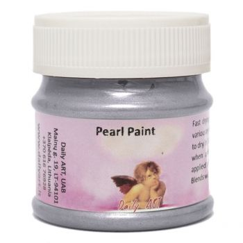 Acrylic pearl paint silver