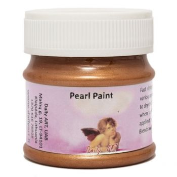 Acrylic pearl paint bronze