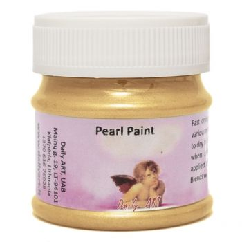 Acrylic pearl paint gold
