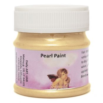 Acrylic pearl paint light gold