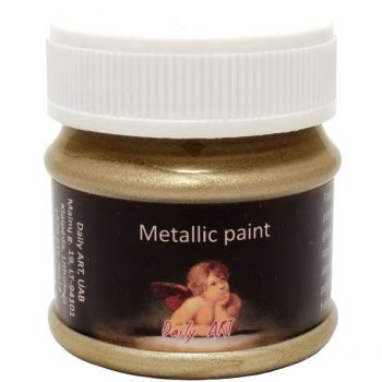 Acrylic metalic paint gold
