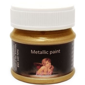 Acrylic metalic paint dense gold