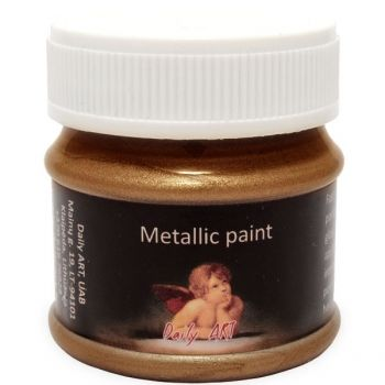 Acrylic metalic paint dark gold