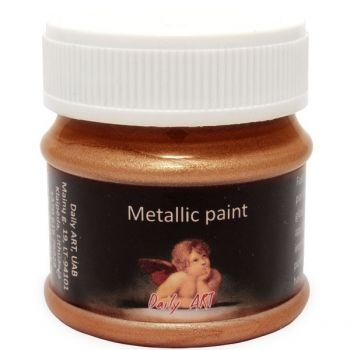Acrylic metalic paint antic gold