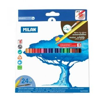 Colour aquarelle pencils Milan 24 colours