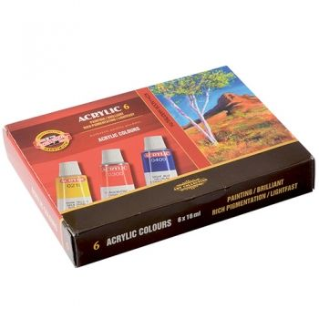 Acrilic paint Koh-I-Noor 6 colours