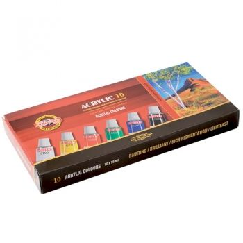 Acrilic paint Koh-I-Noor 10 colours