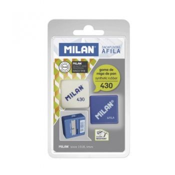 Milan set 1 rubber and 1 sharpener