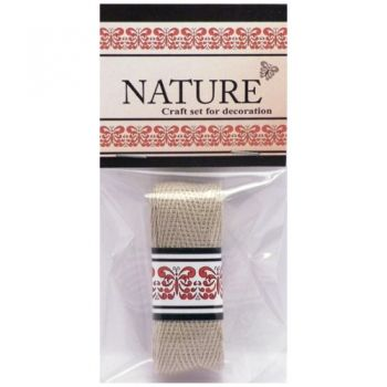 Cotton Lace Nature dark natural colour