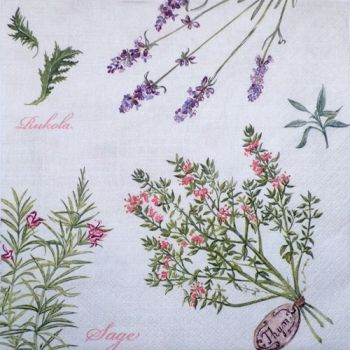 "Napkin for decoupage ""herbs"""