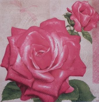 "Napkin for decoupage ""Pink rose"""
