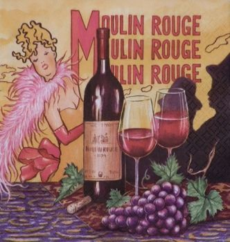 "Napkin for decoupage ""Moulin Rouge"""