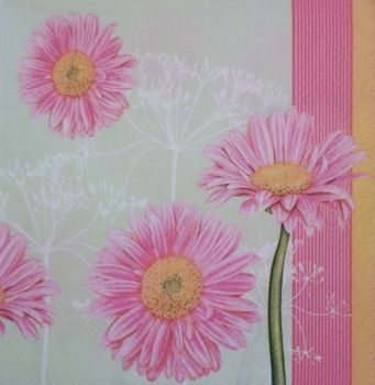 "Napkin for decoupage ""Pink flowers"""