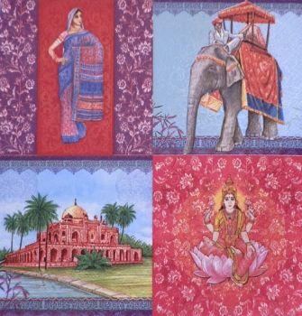 "Napkin for decoupage ""A memory from India"""