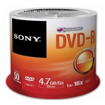 DVD+R 4.7 GB  50 pc.