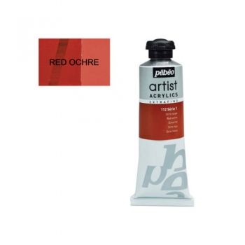 Acrylic paint Pebeo Extra Fine 112 red ochre 37 ml.