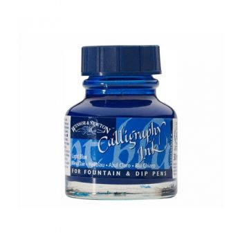 Caligraphic ink Light Blue 30 ml.