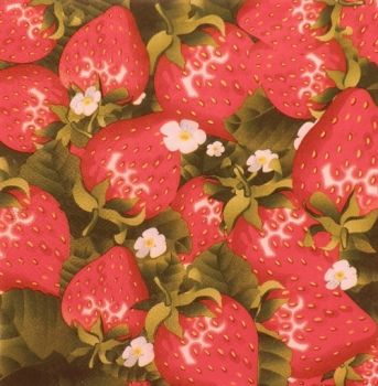 "Napkin for decoupage ""Strawberries"""