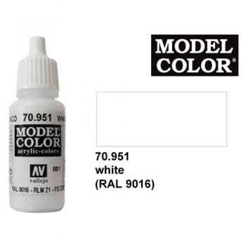 Modeler paint Model Color white