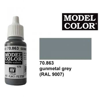 Modeler paint Model Color gunmetal steel metalic