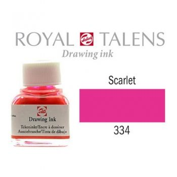Drawing ink Royal Talens Scarlet red 11 ml.