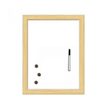 White board with wooden frame 40 / 60 cm