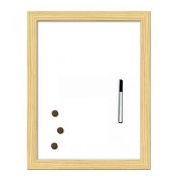 White board with wooden frame 60 / 90 cm