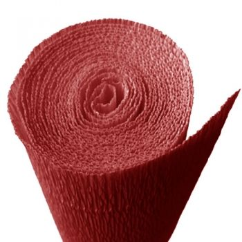 Crepe paper red