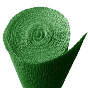 Crepe paper Christmas green