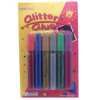 Glitter glue 6 colours