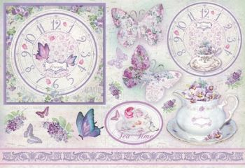Decoupage paper Stamperia DFS311 Butterflies in purple