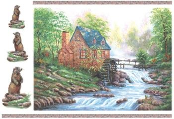 Decoupage paper Stamperia DFS043 Water mill