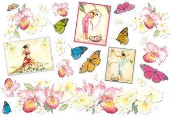 Decoupage paper Stamperia DFS053 Butterflies and Irises