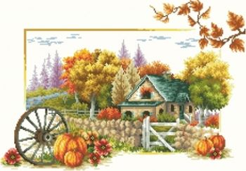 "Mosaic with crystals - ""Autumn idyll"""
