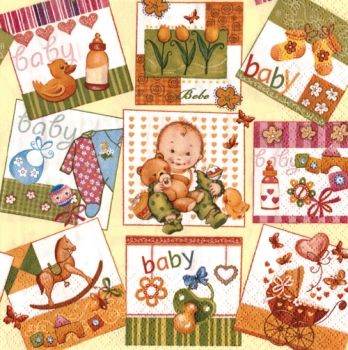 Napkin for decoupage Baby Happines