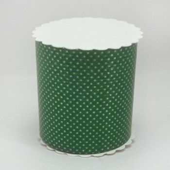 Ribbon for packing green with dots