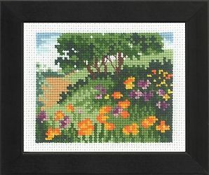 "Cross-stitch kit Permin ""Cornflower meadow"""