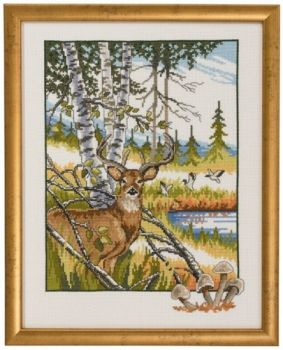 "Cross-stitch kit Permin ""Stag"""